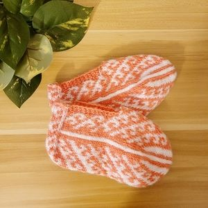 Handmade knitted thick house socks slippers warm